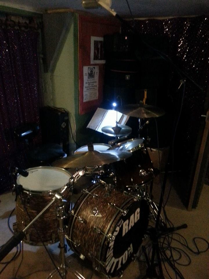 My 1968 Ajax Nu Sound Allegro all ready to record some drums for Catherine Elms