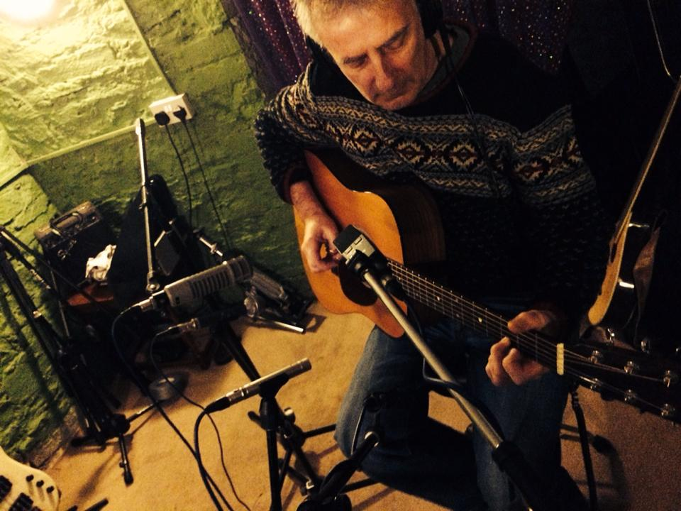 Richard from Rag Foundation laying down some amazing guitar, lots of mics