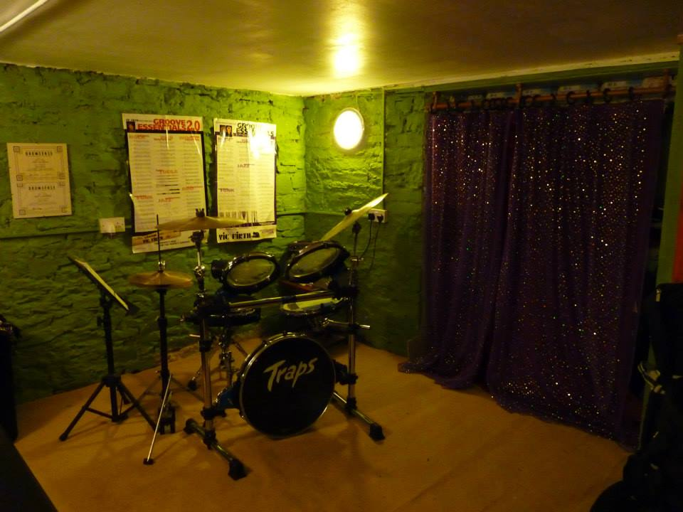 Live and drum tuition room refurb complete 2013